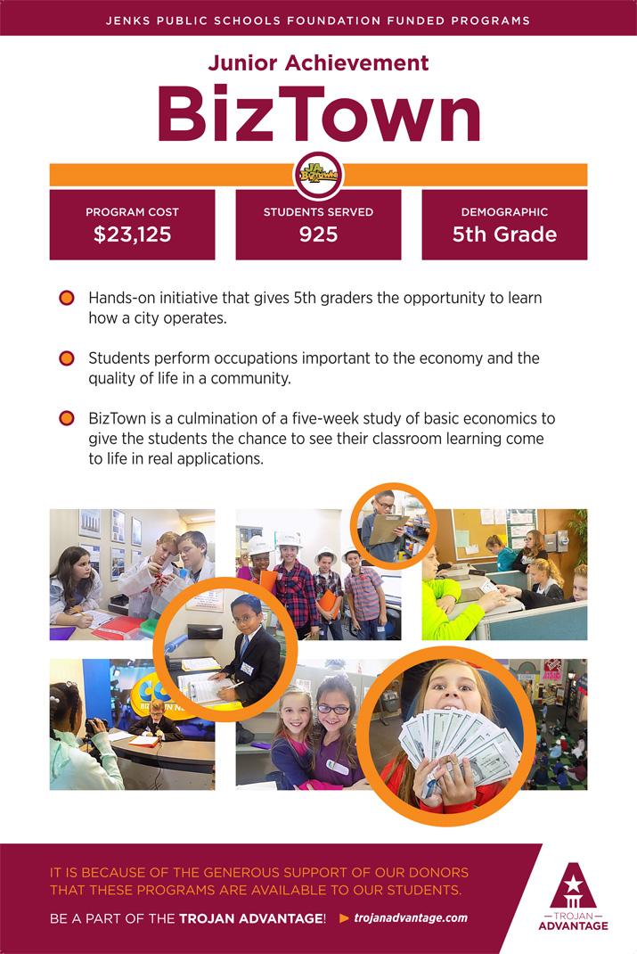 Jenks Public Schools Foundation Junior Achievement BizTown