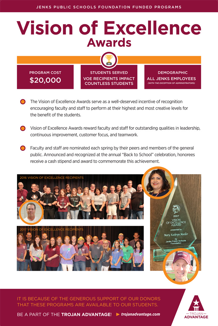 Jenks Public Schools Foundation Vision of Excellence Awards